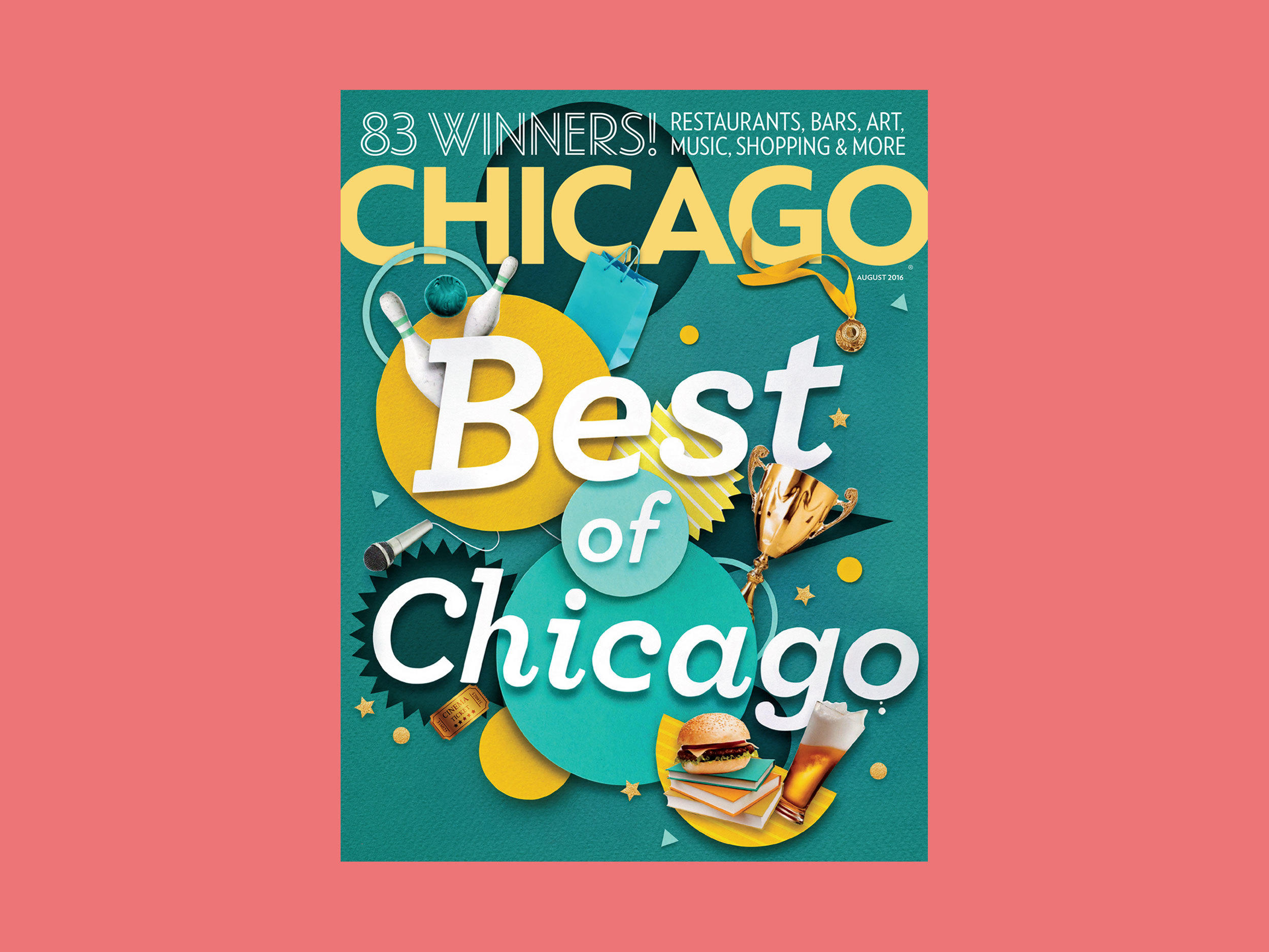 Chicago Magazine, Best of Chicago — Dan Woodger Illustration