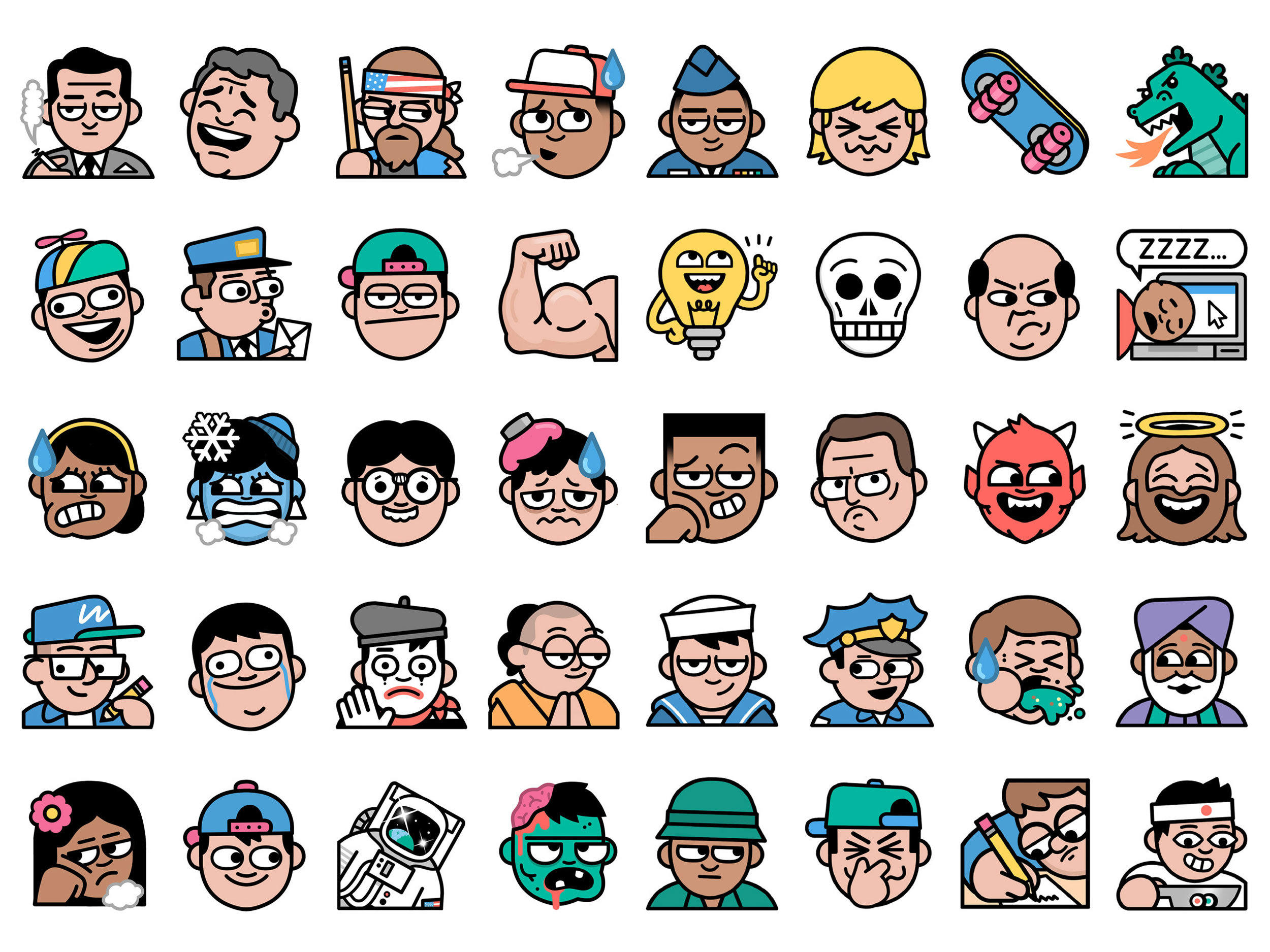 Line Drawing Emoji : Line emoji project — dan woodger illustration