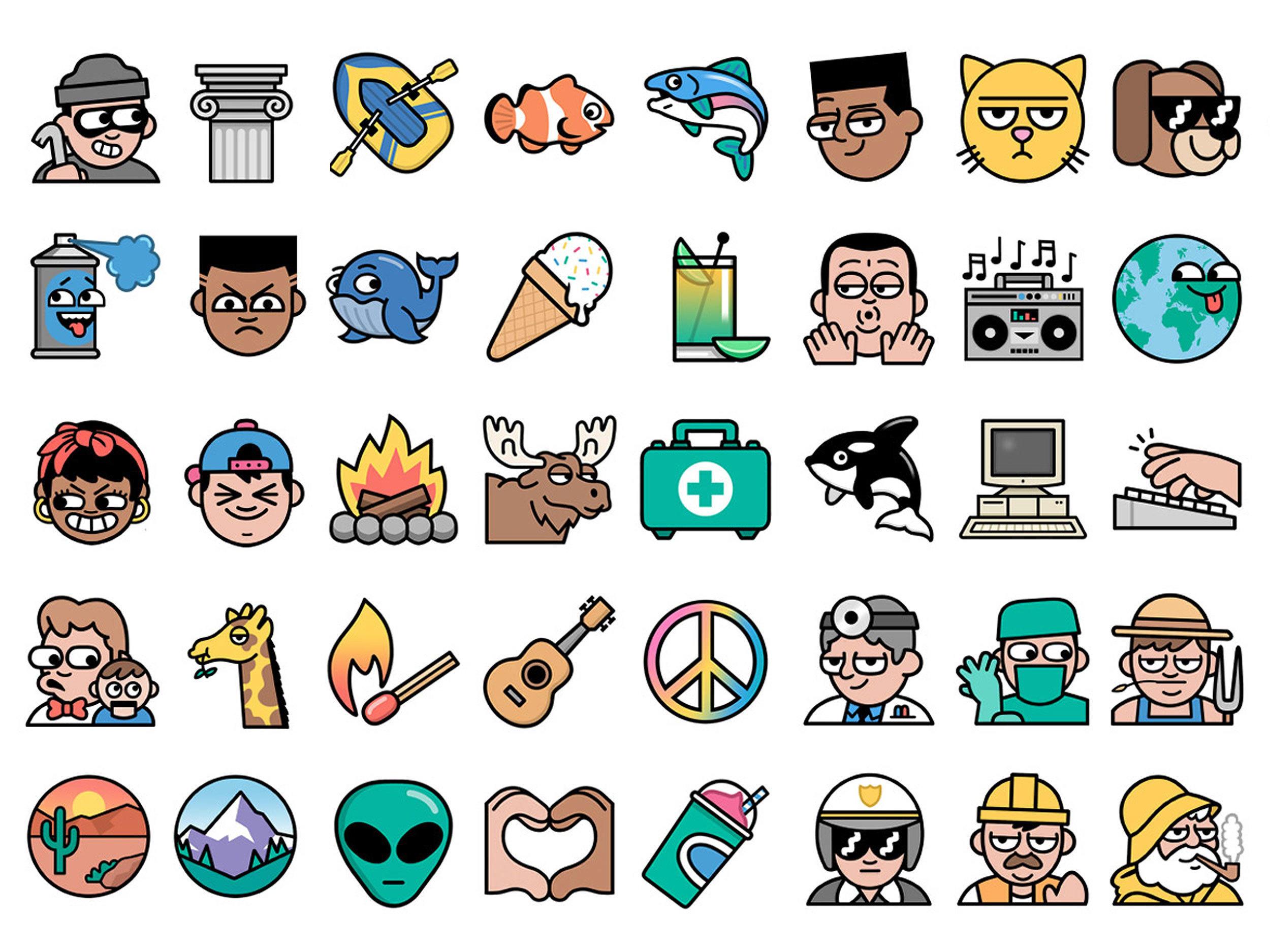 Single Line Emoji Art : Line emoji project — dan woodger illustration